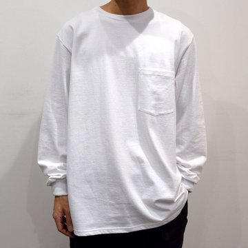 【19 AW】Graphpaper(グラフペーパー) Long sleeve pocket tee GU193-70138B