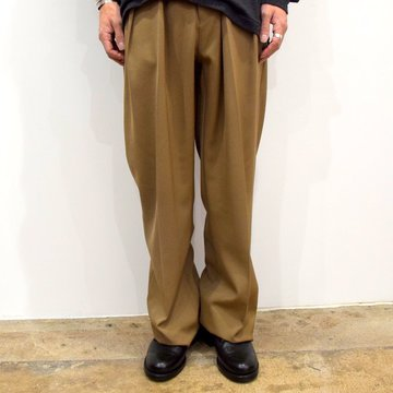 【2019 AW】NEAT(ニート)/ WOOL HIGHT DENSITY GABARDINE WIDE -CAMEL-#19-02WGW