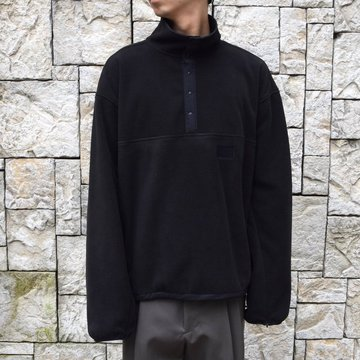 stein/シュタイン OVER SLEEVE SLASH FLEECE TOP ST095-BK
