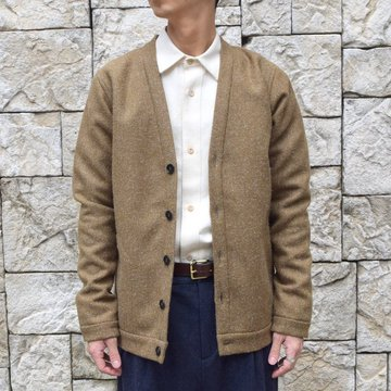 【30% off sale】FRANK LEDER(フランクリーダー) /DOG' WOOL CARDIGAN/KHAKI 0727020-KH