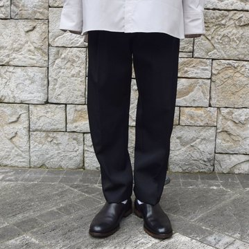 stein/シュタイン TWO TUCK WIDE TROUSERS ST098-1-BK