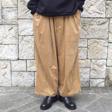 【30% off sale】is-ness(イズネス)/ BALLOON CORDUROY EZ PANTS -BEIGE-