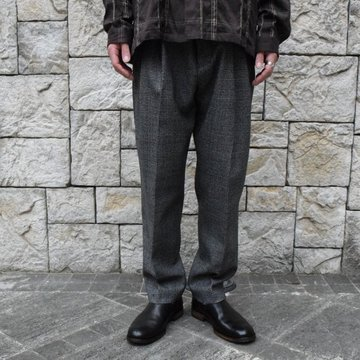 2019[AW]stein/シュタイン TWO TUCK WIDE TROUSERS -GLENCHECK-ST098-2-GL