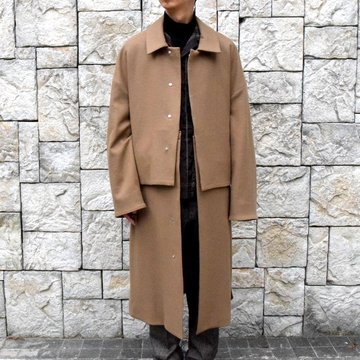YOKE(ヨーク)/3WAY BAL COLLAR SHARE COAT -CAMEL- #YK19AW0049C