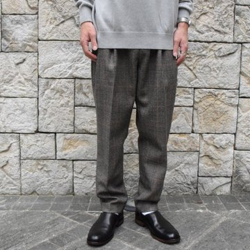 2019[AW]stein/シュタイン TWO TUCK WIDE TROUSERS -WINDOWPEN-ST098-2-WI