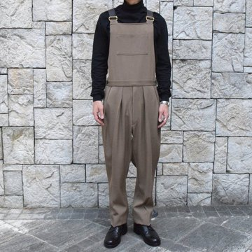 【2019 AW】NEAT(ニート)/ WOOL HIGHT DENSITY GABARDINE  Overall  -CAMEL-#19-02WGO