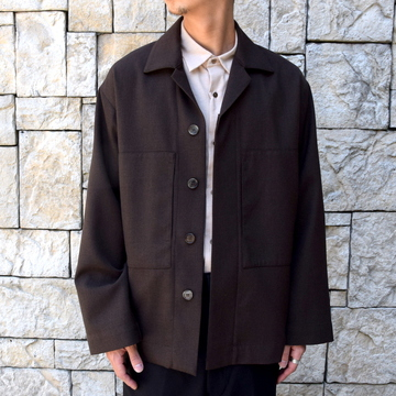 【2019 AW 】 MARKAWARE(マーカウェア)/UTILITY SHIRTS -TOP BROWN- #A19C-06SH01C