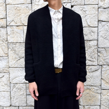 【2019 AW】 too good(トゥーグッド) / THE POET CARDIGAN CASHMERE WOOL KNIT-FLINT- #61101210
