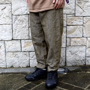 【30% off sale】【2019 AW】Graphpaper(グラフペーパー)/Tweed Kibata Pants -LEAF-#GM193-40047