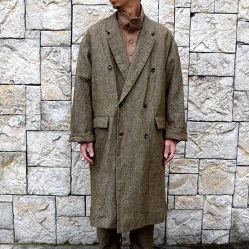 【30% off sale】【2019 AW】Graphpaper(グラフペーパー)/Tweed Kibata Coat -LEAF-#GM193-10045