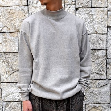 YOKE(ヨーク)/WOOL SABLE MOCK NECK L/S -BEIGE- #YK19AW0075S