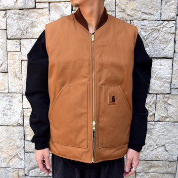 is-ness(イズネス)/REVERSIBLE DUCK×FLEECE VEST -BROWN BEIGE-#30AWS01-BR