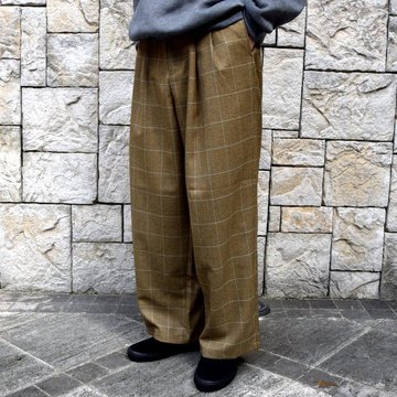 is-ness(イズネス)/ COJ NU WIDE EZ PANTS -BROWN BLUE-  #30AWPT05-BR