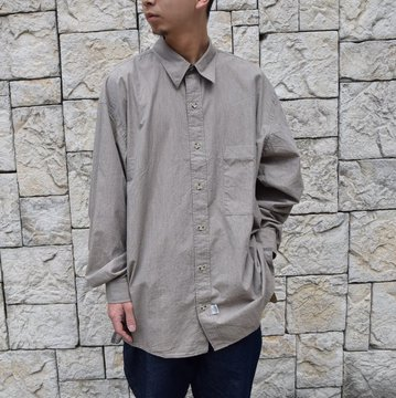 Marvine Pontiak Shirt Makers(マーヴィンポンティアックシャツメーカーズ)/TWO TONE L/S Shirt -BROWN- #MPSM-1913S