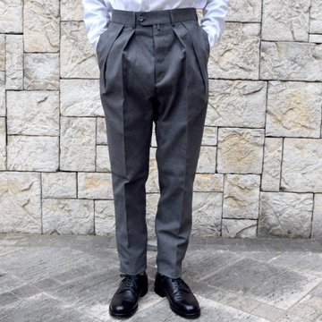 【2020 SS】NEAT(ニート)/ HOPSACK ''TAPERED'' -GRAY- #20-01HST-GR