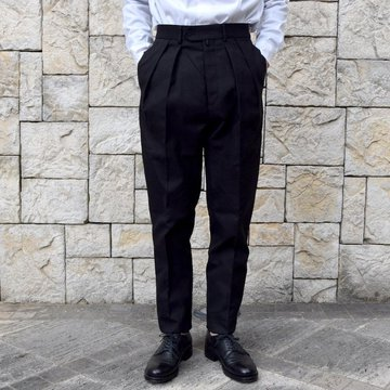 【2020 SS】NEAT(ニート)/ HOPSACK ''TAPERED'' -BLACK- #20-01HST-BK