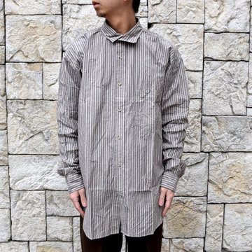 【2020 SS】Marvine Pontiak Shirt Makers(マーヴィンポンティアックシャツメーカーズ)/ ITALIAN COLLAR SH -BROWN ST- #MPSM-2004S-BR