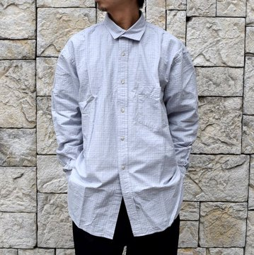 【2020 SS】Marvine Pontiak Shirt Makers(マーヴィンポンティアックシャツメーカーズ)/ ITALIAN COLLAR SH -BLUE CHECK- #MPSM-2004S-BL