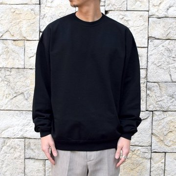 【2020 SS】AURALEE(オーラリー)/ SUPER SOFT SWEAT BIG P/O -BLACK- #A20SP02GU