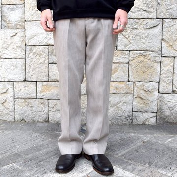 【2020 SS】AURALEE(オーラリー)/ COTTON WOOL DOUBLE CLOTH SLACKS -TOP GRAY- #A20SP02WF