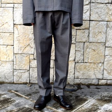 【2020 SS】stein(シュタイン)/ WIDE TAPERED TROUSERS -GLEN CHECK- #ST128-2