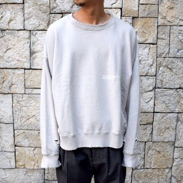 【2020 SS】stein(シュタイン)/ DOUBLE PATTERN REBUILD SWEAT LS -GREIGE- #ST136