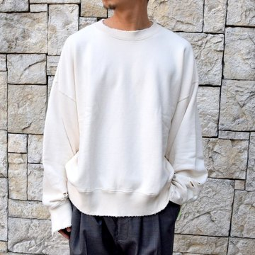【2020 SS】stein(シュタイン)/ DOUBLE PATTERN REBUILD SWEAT LS -OFF WHITE- #ST136-WH