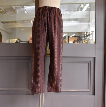 South2 West8(サウスツーウエストエイト) String Slack Pant - C/L Cloth / Arabesque  #GL809