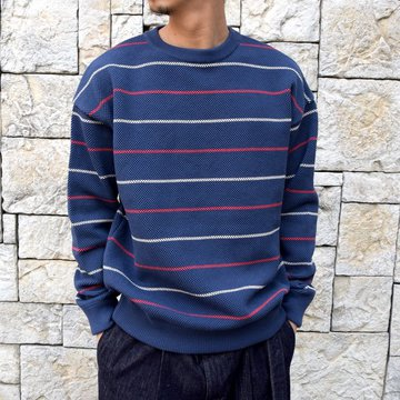 【2020 SS】crepuscule(クレプスキュール)/BORDER LONG SLEEVE TEE -NAVY- #2001-001-NV