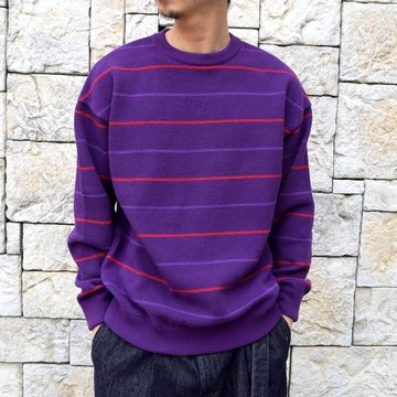 【2020 SS】crepuscule(クレプスキュール)/BORDER LONG SLEEVE TEE -PURPLE- #2001-001-PU