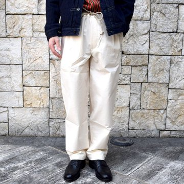 【2020 SS】FRANK LEDER(フランクリーダー) /VINTAGE BEDSHEET DRAW STRING TROUSERS -NATURAL- #0913037-80