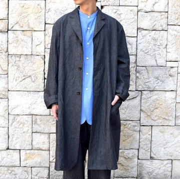 【30% off sale】【2020 SS】un unbient / COTTON WOOL ATELIER COAT -CHARCOAL- #UNSCT0920