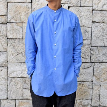 【30% off sale】【2020 SS】un unbient /STAND-COLLAR SHIRT -BLUE-#UNSSH2520-1