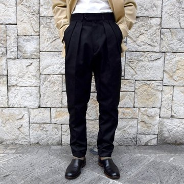 【2020 SS】NEAT(ニート)/ COTTON PIQUE ''TAPERED'' -BLACK- #20-01CPT