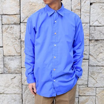【30% off sale】【2020】MAATEE&SONS(マーティーアンドサンズ)/REGULAR COLLAR SHIRT -BLUE- #MT0103-0601B