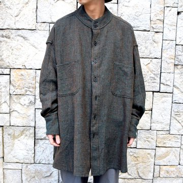 【2020 SS】HOMELESS TAILOR(ホームレステイラー)/ STAND COLLAR SHIRT -2色展開- #HTKS-003