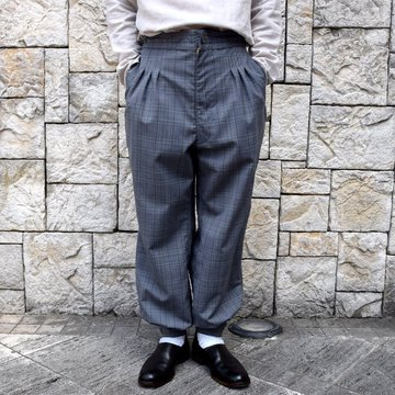 【2020 SS】HOMELESS TAILOR(ホームレステイラー)/CUFF PANTS #HTKS-008-GRCH