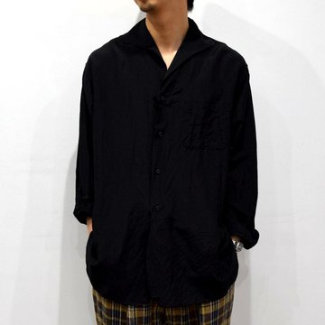 【30% off sale】【2020】KAPTAIN SUNSHINE (キャプテンサンシャイン)/ RIVIERA L/S SHIRT -BLACK- #KS20SSH03