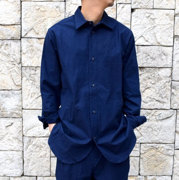 【2020 SS】FRANK LEDER(フランクリーダー)/ BALTIC BLUE DYED VINTAGE BEDSHEET OLD STYLE SH -