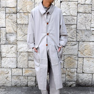 【2020 SS】FRANK LEDER(フランクリーダー)/ TRIPLE WASHED THIN COTTON COAT -GREY- #0911081-95