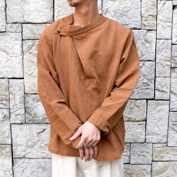 【30% off sale】【2020】FRANK LEDER(フランクリーダー)/ ROOT DYED SOFT COTTON TOP -BROWN- #0917080-89