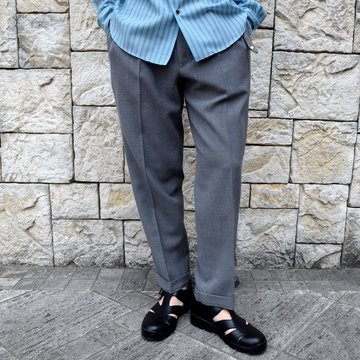 【2020 SS】BROWN by 2-tacs (ブラウンバイツータックス)/ TAPERED SLACKS -GRAY- #B23-P004