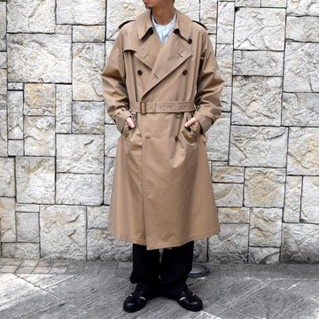 【2020】AURALEE(オーラリー)/ FINX POLYESTER BIG TRENCH COAT -BEIGE- #A20SC01FP