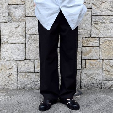 【2020 SS】AURALEE(オーラリー)/ FINX HARD TWIST GABARDINE PANTS -BLACK- #A20SP02FB