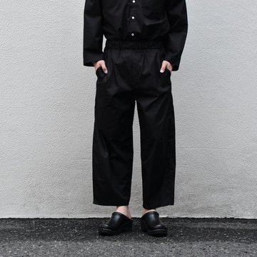 【2020 SS】 Cristaseya(クリスタセヤ)/LIGHT COTTON MOROCCAN PAJAMA PANTS -Black- #02DA-C