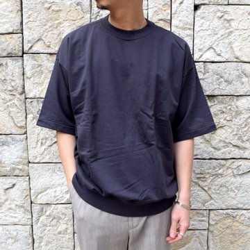 【2020 SS】AURALEE(オーラリー)/ SUPER HIGH GAUGE SWEAT BIG TEE -INK BLACK- #A20SP02NU