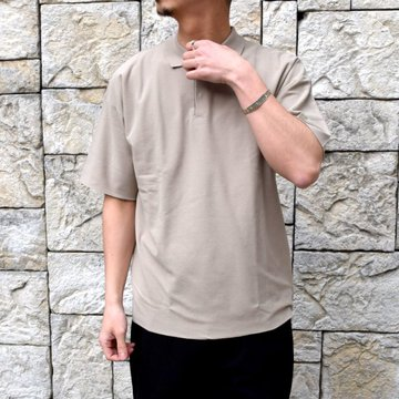 【2020 SS】AURALEE(オーラリー)/ HARD TWIST AMUNZEN DOUBLE CLOTH POLO -BEIGE- #A20SP02KN