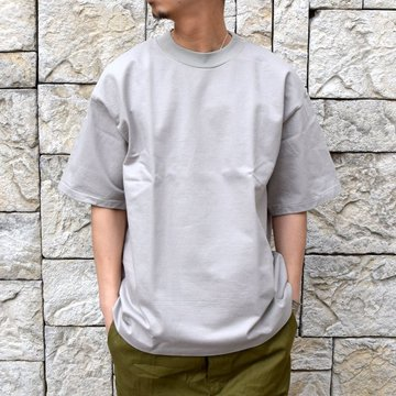 【2020】AURALEE(オーラリー)/ STAND UP TEE -PALE GRAY- #A20ST01SU