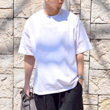 【2020 SS】Graphpaper (グラフペーパー)/ Jersey S/S Tee -WHITE- #GM201-70148B