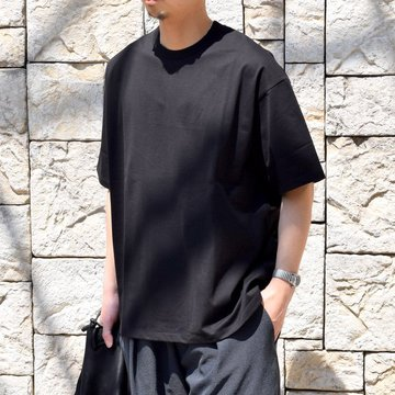【2020 SS】Graphpaper (グラフペーパー)/ Jersey S/S Tee -BLACK- #GM201-70148B